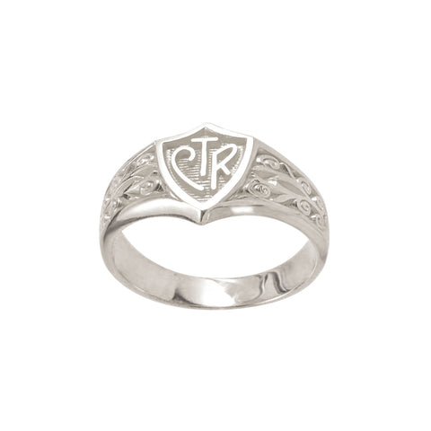 Legacy CTR Ring - sterling silver (engravable)