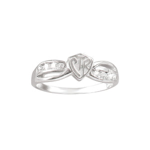 Bow CTR Ring - Plain - sterling silver