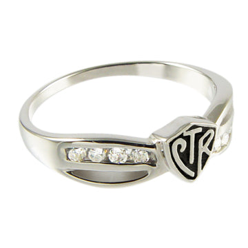 Bow Antiqued CTR Ring - Sterling Silver