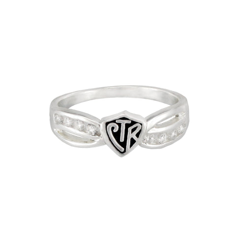 Bow CTR Ring - Antiqued - Sterling Silver