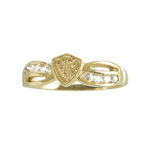 Bow CTR Ring - 14KT Yellow Gold