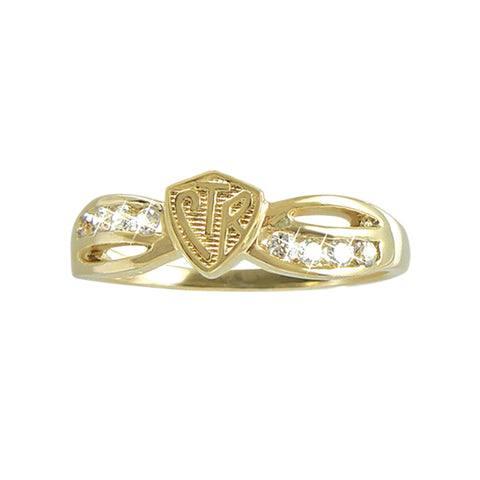 Bow CTR Ring - 14KT Yellow Gold (please allow 8-10 weeks for delivery or email for stock)