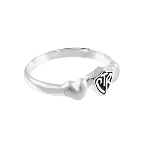 Satin Hearts CTR Ring - sterling silver