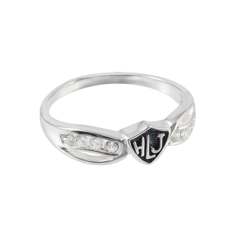 Spanish Bow Antiqued HLJ Ring - Sterling Silver