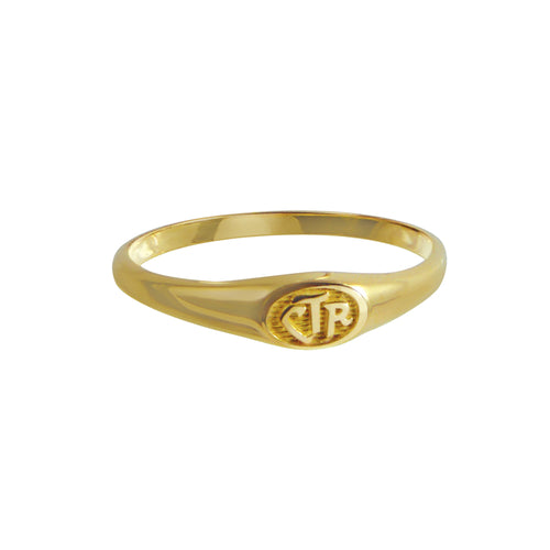 Micro Mini CTR Ring - 14KT Yellow Gold
