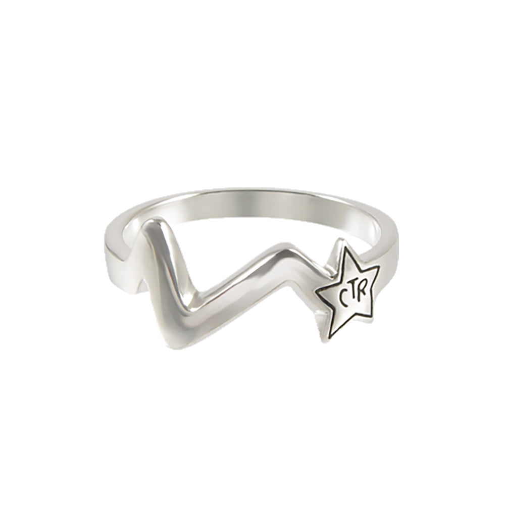 Shooting Star CTR Ring - sterling silver