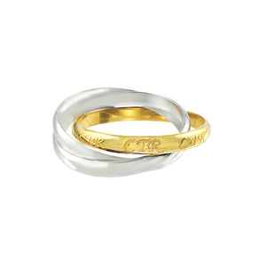 Roll Spinner CTR Ring – Two Tone - stainless steel