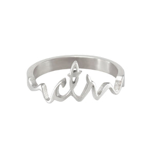 Cursive CTR Ring - Stainless Steel
