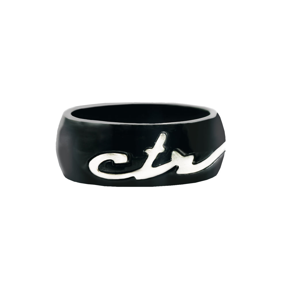 Signature CTR Ring - Black - stainless steel