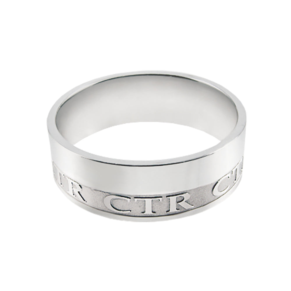 Intrigue CTR Ring - stainless steel (engravable)
