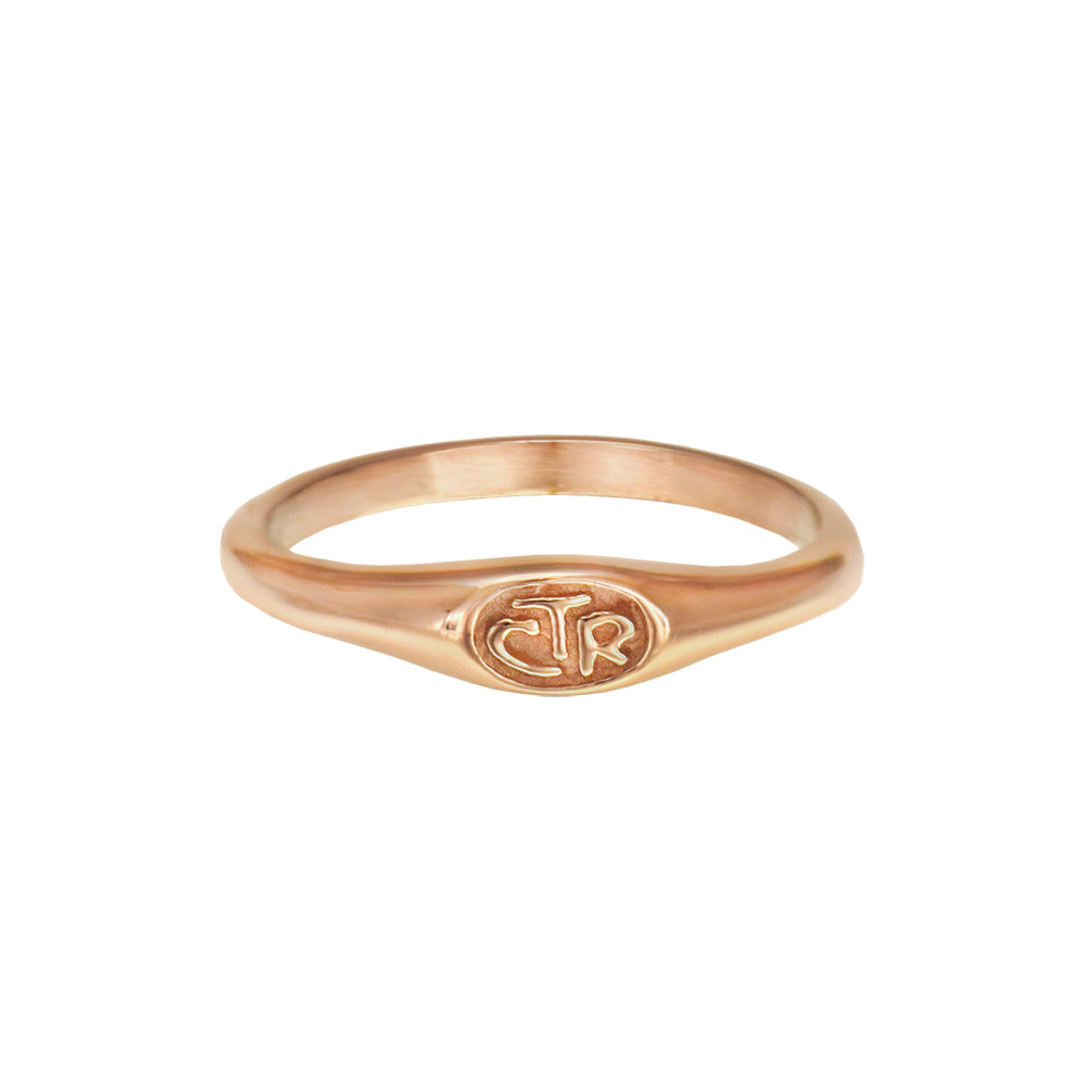 Micro Mini CTR Ring - rose gold stainless steel