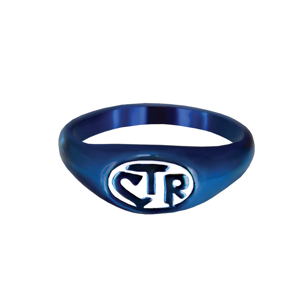 Allegro CTR Ring - Blue & White - stainless steel