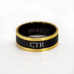 Diplomat CTR Ring - Stainless Steel (engravable)