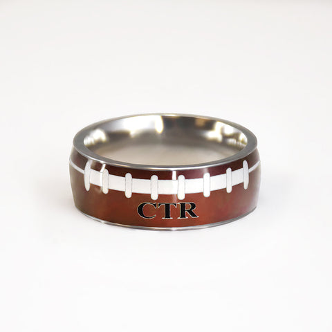Football CTR Ring - stainless steel