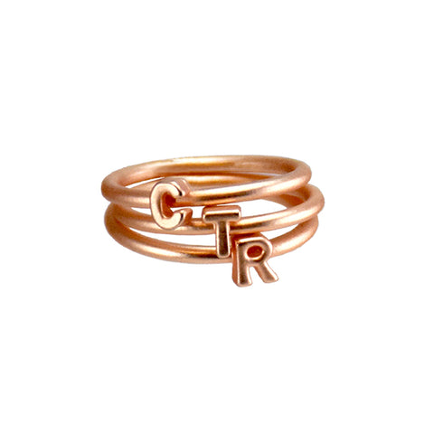 Stackable CTR Ring - rose gold stainless steel