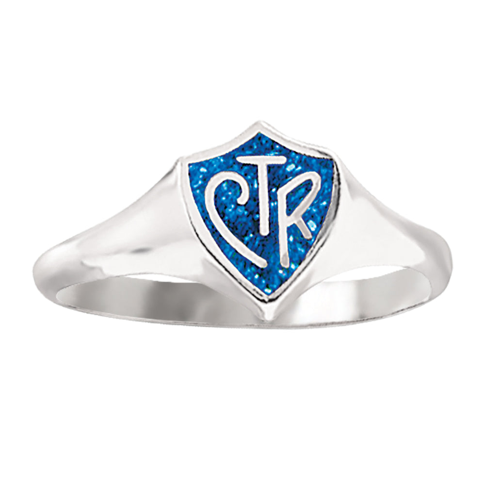 Classic Regular CTR Ring - Blue Sparkle - Sterling Silver