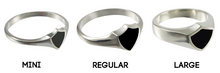 Load image into Gallery viewer, Czech CTR ring - sterling silver - 3 styles
