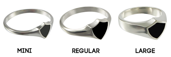 Italian CTR ring - sterling silver - 3 styles