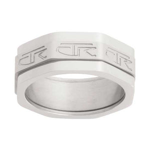 The Edge Triple Spinner CTR Ring - Stainless Steel