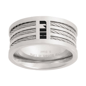 Spanish Tres Triple Cable HLJ Ring - Stainless Steel