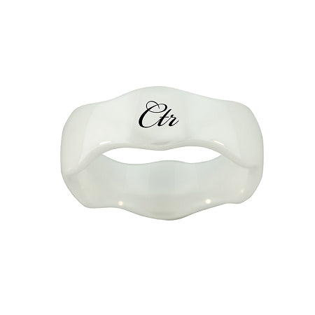 Wave CTR Ring - White Diamond Ceramic