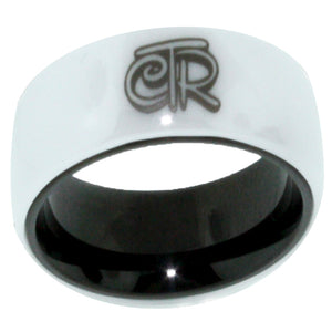 Magic CTR Ring (Wide Band) - White Ceramic