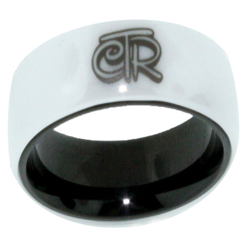 White Magic CTR Ring (Wide Band) - White Ceramic