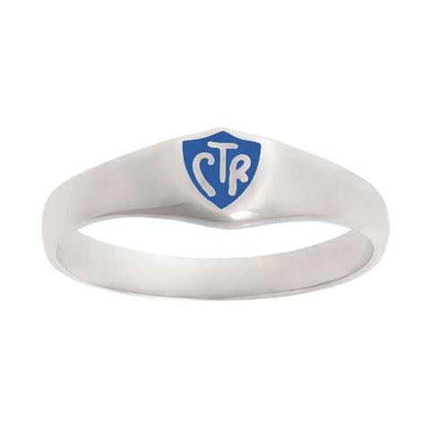 Classic Blue CTR Ring - Sterling Silver