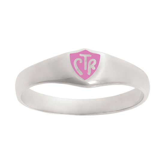 Classic Pink CTR Ring - Sterling Silver