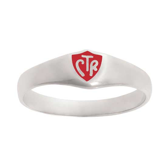 Classic Red CTR Ring - Sterling Silver