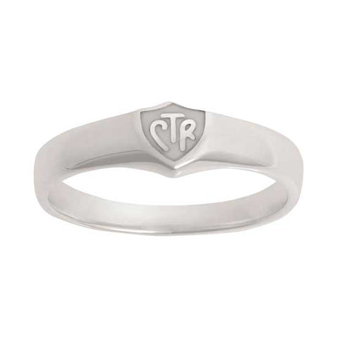 Classic White CTR Ring - Sterling Silver