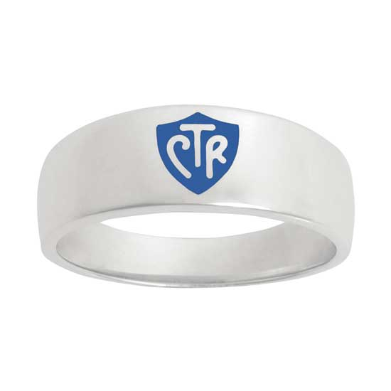 Classic WIDE Blue CTR Ring - Sterling Silver