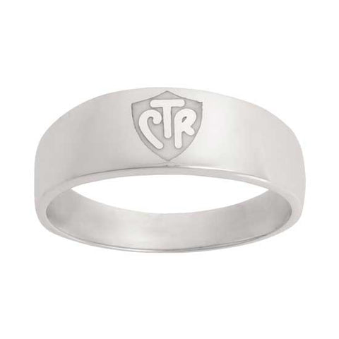 Classic WIDE White CTR Ring - Sterling Silver