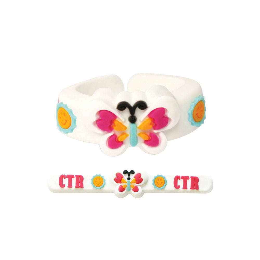 Adjustable CTR Butterfly Ring - silicone