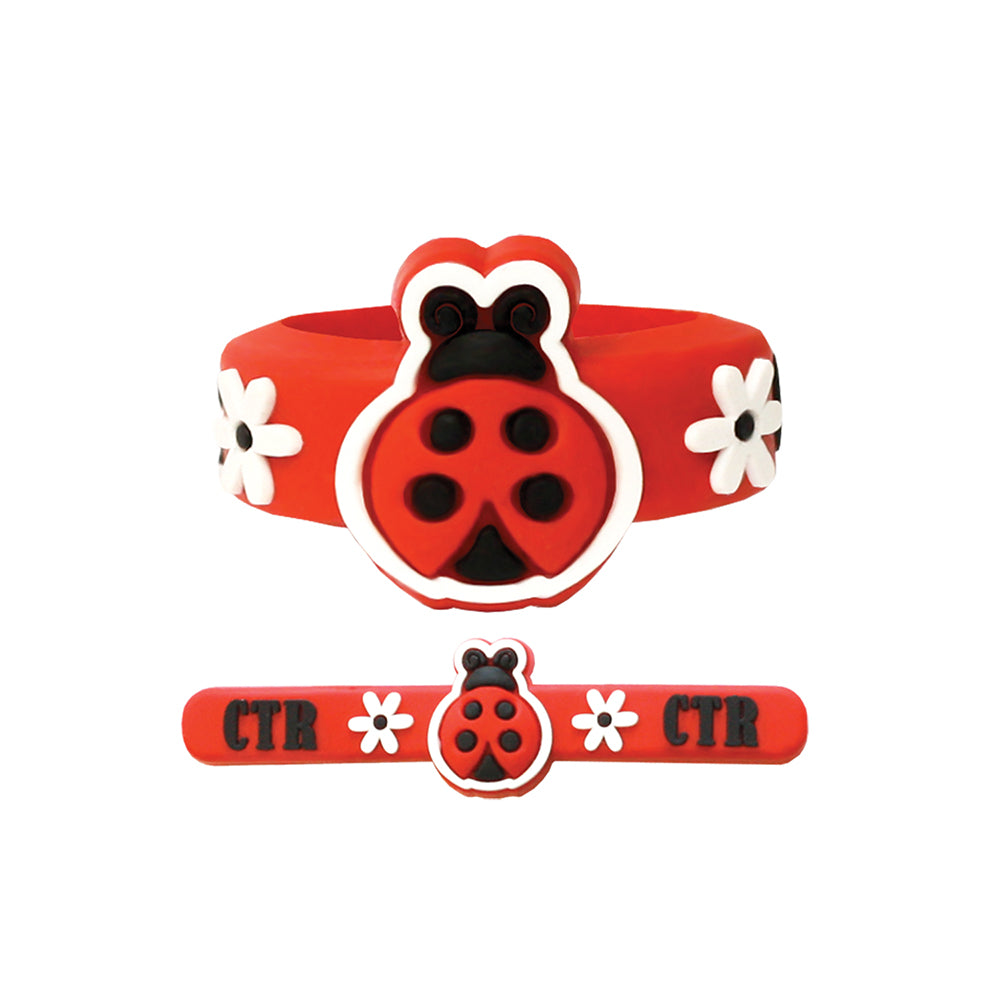 Adjustable CTR Ladybug Ring - silicone