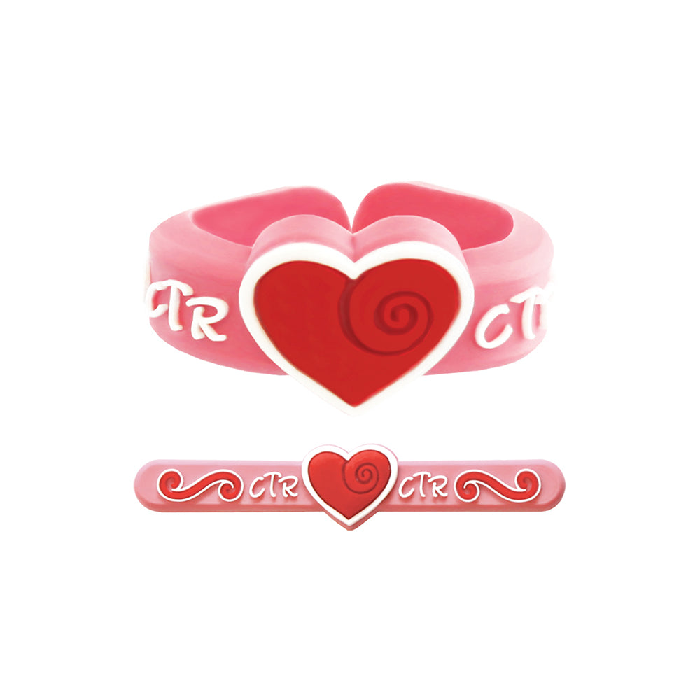 Adjustable CTR Heart Ring - silicone