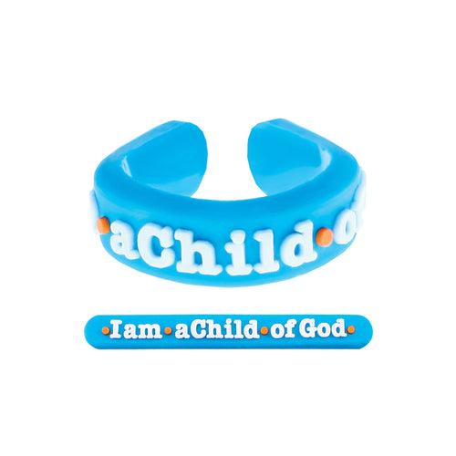 Adjustable I am A Child of God Ring - silicone