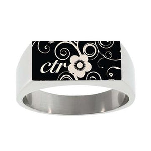 Blossom CTR Ring - Stainless Steel