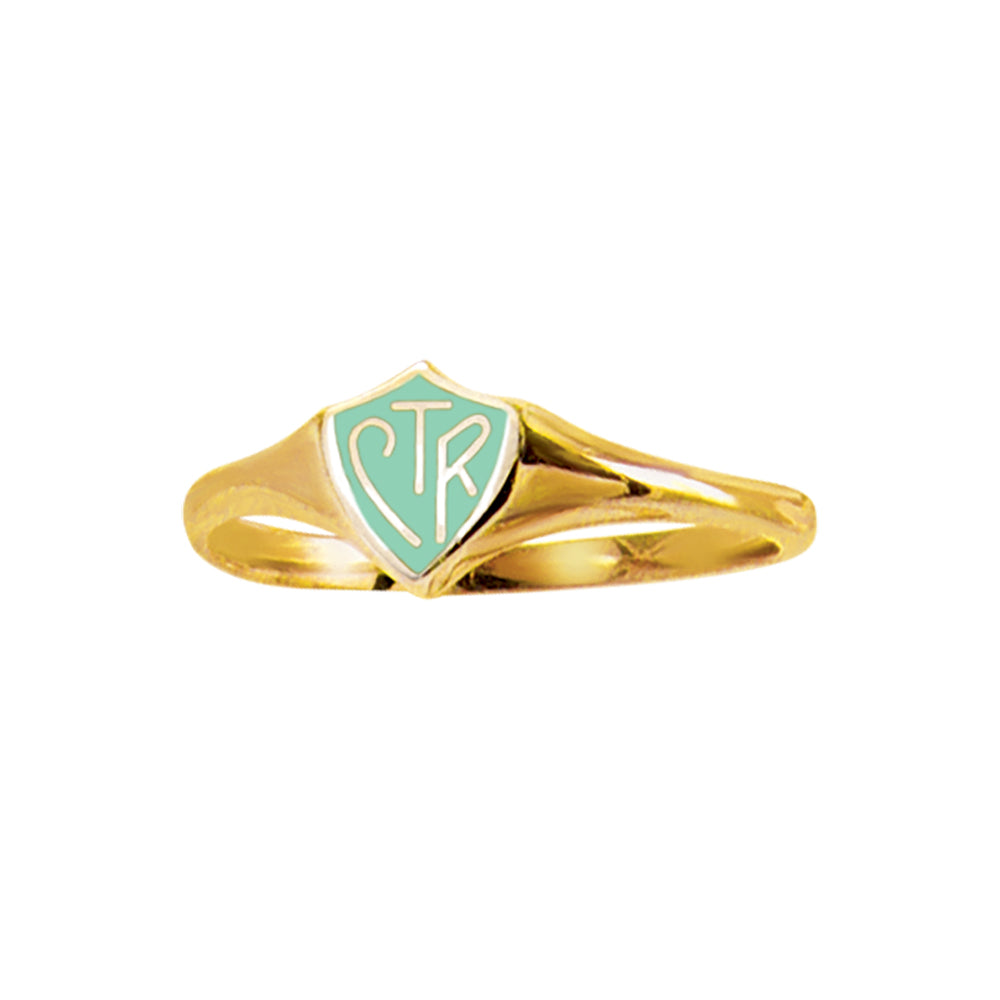Classic Mini Gold Mint CTR Ring – Stainless Steel