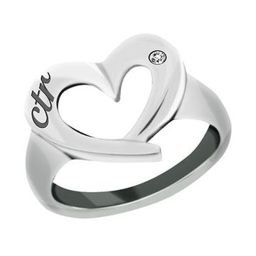 Heart CTR Ring - Stainless Steel