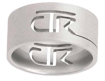Cutout CTR Ring  - brushed stainless steel