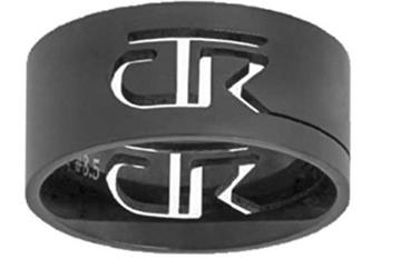 Cutout CTR Ring - Black stainless steel