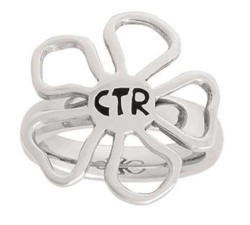 Diva Flower CTR Ring - Stainless Steel
