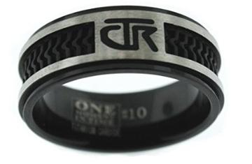 Elements CTR Ring - Titanium with black rubber inlay