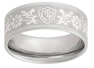 Daisy Flower CTR Ring - Stainless Steel