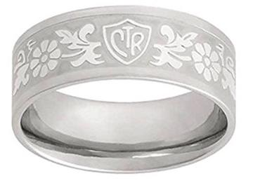 Laser Flower CTR Ring - stainless steel