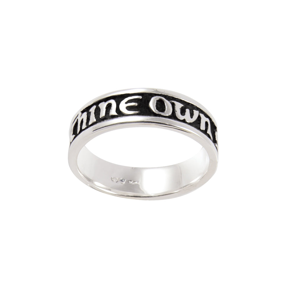 To Thine Own Self Be True Ring - sterling silver (engravable)
