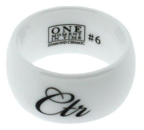 Allure CTR Ring - White Diamond Ceramic