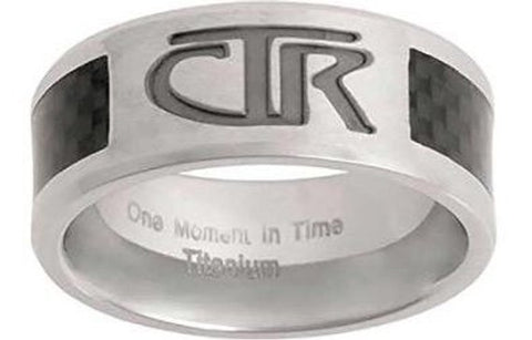 Titan CTR Ring - titanium with black carbon fiber inlay