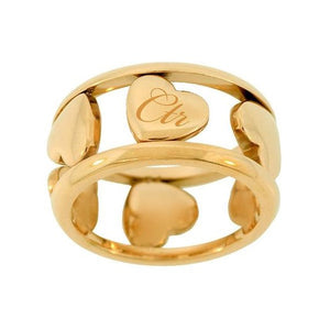Six Hearts CTR Ring - Gold Stainless Steel